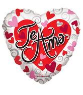 "4"" Airfill Only Te Amo Corazon Blanco"