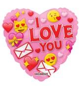 """9"""" I Love You Smilies Non Foil Balloon"""
