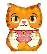 "18"" Purrfect Cat Shape Foil Balloon"