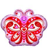 """18"""" Lovely Butterfly Shape Foil Balloon"""