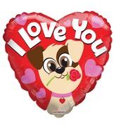 "18"" Love Puppy Foil Balloon"