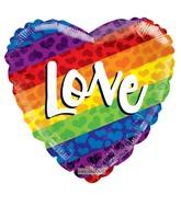 """18"""" Rainbow Love Non Foil Balloon"""