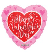 """18"""" Happy Valentine's Day Red Heart Foil Balloon"""
