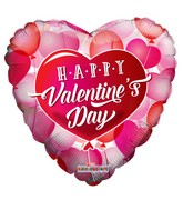 "18"" Happy Valentine's Day Floating Hearts Foil Balloon"