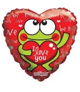 "9"" I Love You Frog"