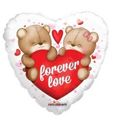 """18"""" Forever Love Bears Clear View"""