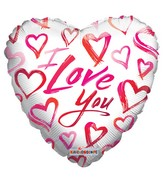 "9"" Love Sketchy Hearts"