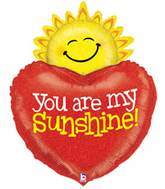 """37"""" Holographic You Are My Sunshine Balloon"""