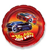 """18"""" Hot Cars Mylar Balloon"""