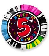 """18"""" Round Number 5 Balloon"""