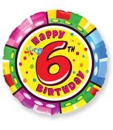"""18"""" Round Number 6 Balloon"""
