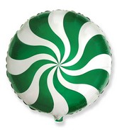 """18"""" Round Candy Peppermint Swirl Green"""