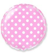 """18"""" Round Polka Dots Balloon Light Pink"""