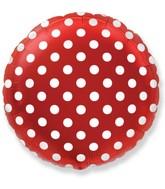 "18"" Round Polka Dots Balloon Red"