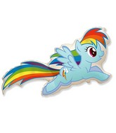 "40"" My Little Pony Rainbow Dash Balloon"