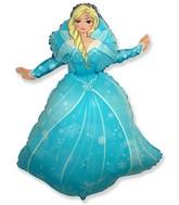 """39"""" Winter Princess Balloon"""