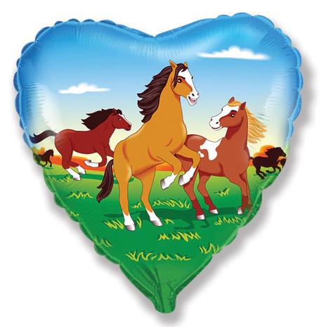 """18"""" Horses Heart Mylar Balloon"""