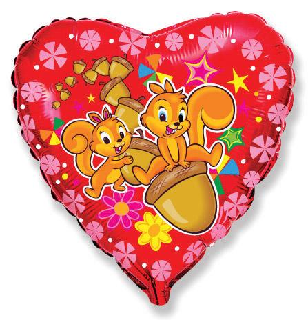 "18"" Happy Squirrel Mylar Balloon"