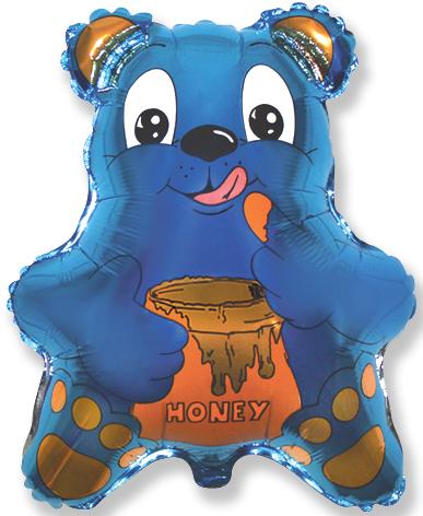 "22"" Bear with Honey Blue"