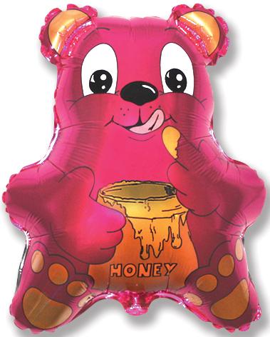 """22"""" Bear with Honey Fucshia"""