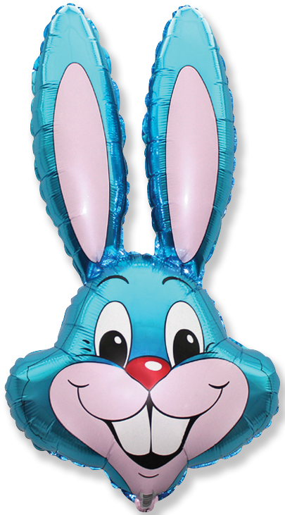 "35"" Rabbit Head Blue"