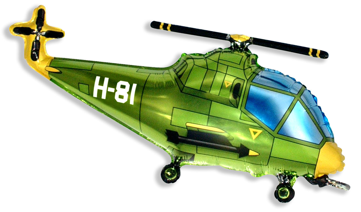 """38"""" Helicopter Balloon Green"""