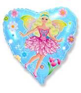 """18"""" Fairy Blue Mylar Balloon"""