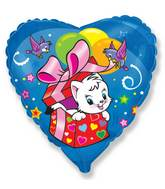 "18"" Surprise Cat Mylar Balloon"