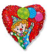 "18"" Happy Clown Mylar Balloon"