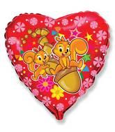 Squirrel Balloons Mylar Balloons