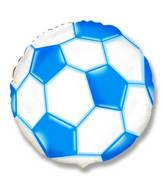 "18"" Soccer / Football Balloon Blue"