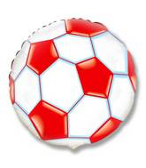 "18"" Soccer / Football Balloon Red"