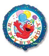 "18"" Sesame Street Balloon Elmo HBD"