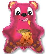 "22"" Bear with Honey Fucshia"