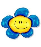 "41"" Blue Flower"