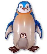 """35"""" Jumbo Mylar Penguin Balloon Blue"""