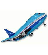 "40"" Blue Airplane Shape"