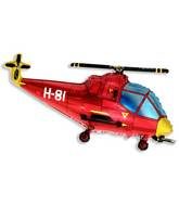 "38"" Helicopter Balloon Red"