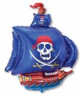 """36"""" Pirate Ship Blue"""