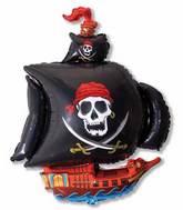 "36"" Pirate Ship Black"