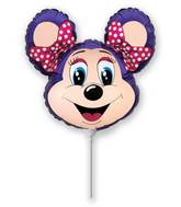 Airfill Only lolly Mouse Violet Balloon