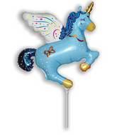 Airfill Only Blue Magic Unicorn Balloon