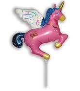Airfill Only Fuchsia Magic Unicorn Balloon