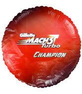 "18"" Gillette Mach 3 Turbo Orange Promotional Balloon"