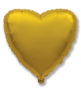 "9"" Airfill Only Metallic Gold Heart"