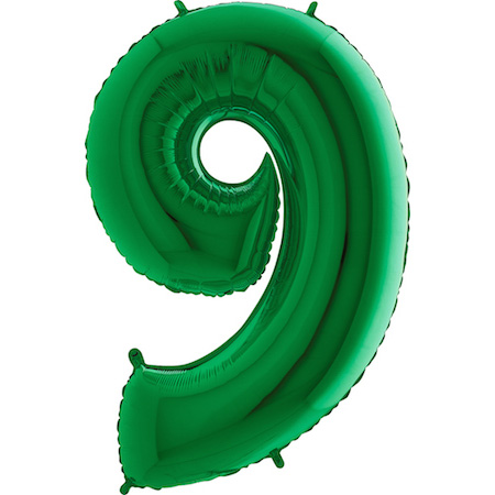 """40"""" Megaloon Foil Shape 9 Green Number Balloon"""