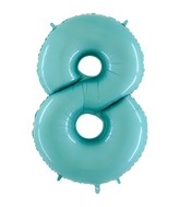 "40"" Megaloon Foil Shape 8 Baby Blue Balloon"