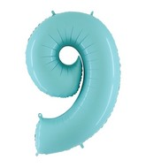 "40"" Megaloon Foil Shape 9 Baby Blue Balloon"