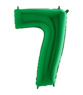 "40"" Megaloon Foil Shape 7 Green Number Balloon"