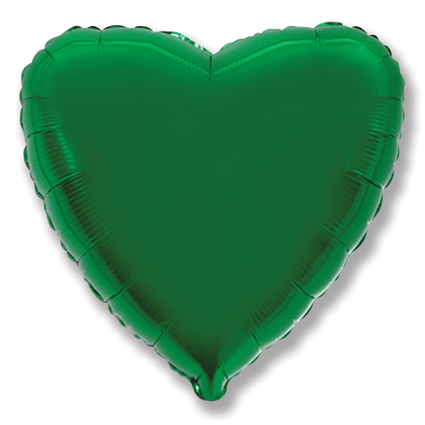 """2"""" Airfill Only Green Heart"""